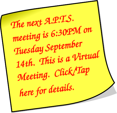 Next A.P.T.S. Meeting - Wednesday September 13th