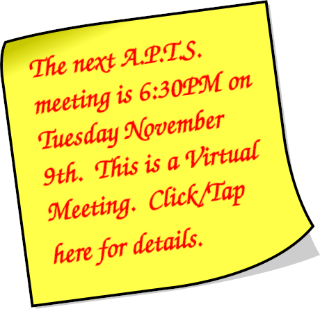 Next A.P.T.S. Meeting - Wednesday November 8th